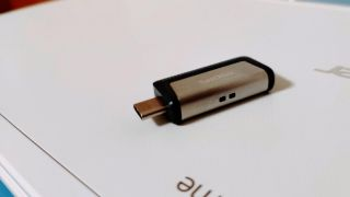 Thumb drive on paper