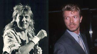 Joe Elliott and David Bowie