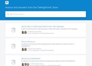TalkingPoints screenshot showing resource tiles for teaching