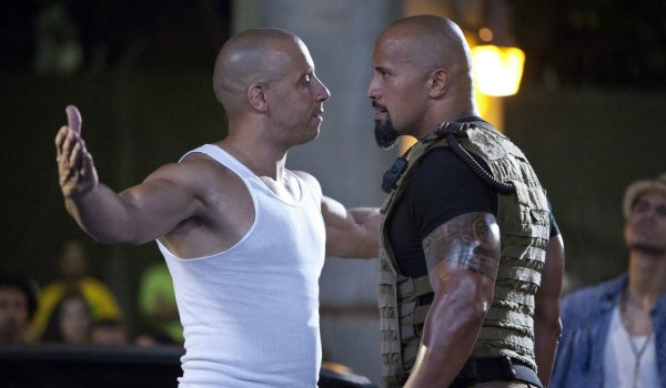 Vin Diesel and The Rock in Fast Five