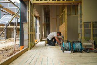underfloor heating being installed in a renovation