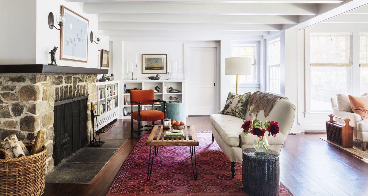 Take a tour of this elegant riverside farmhouse in Connecticut