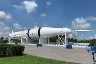 Kennedy Space Center Visitor Complex has returned to view its Saturn IB rocket after an almost year-long restoration.