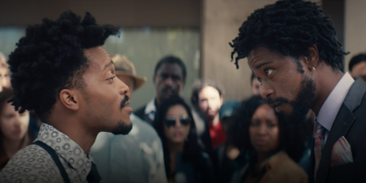 Jermaine Fowler and Lakeith Stanfield in Sorry to Bother You