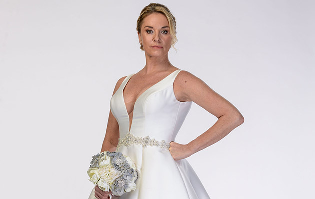 Mel Owen in EastEnders in her wedding dress