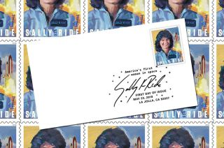 sally ride stamp collecting