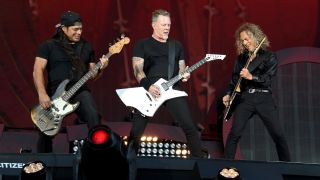 Metallica onstage at New York's Global Citizen festival