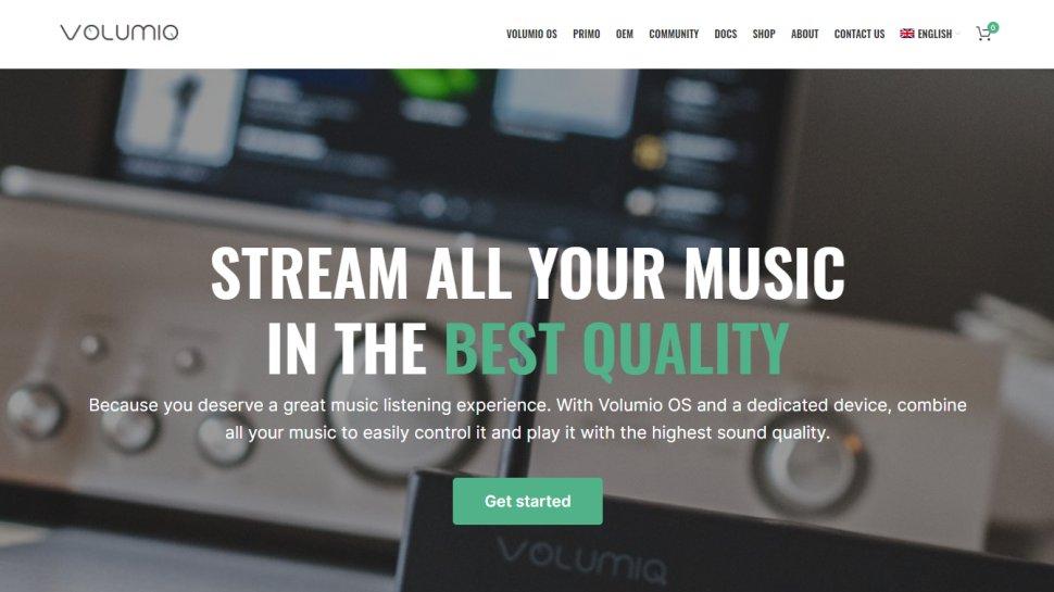 Website screenshot for Volumio