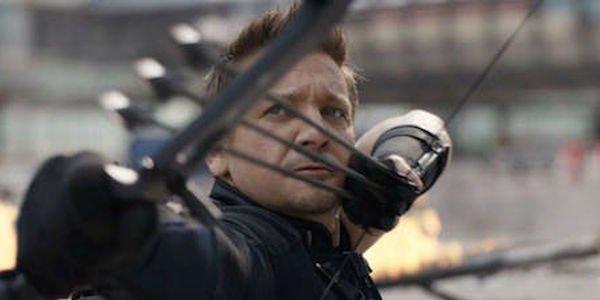 Hawkeye aiming three arrows