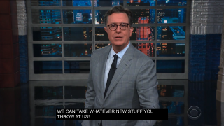 Closed captions on The Late Show with Stephen Colbert