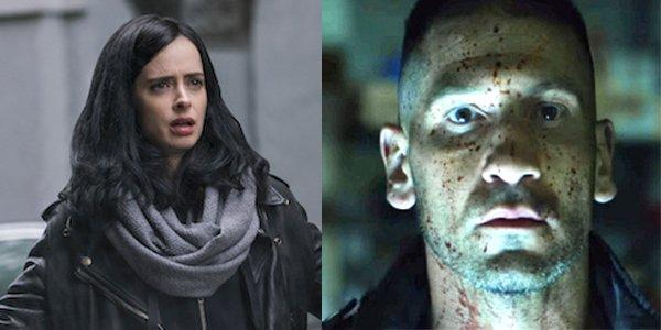 Krysten Ritter as Jessica Jones and Jon Bernthal as The Punisher