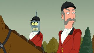 "Patrick Stewart guest stars on ""Futurama"" as a character called the Huntmaster"