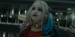 Harley in the elevator in Suicide Squad