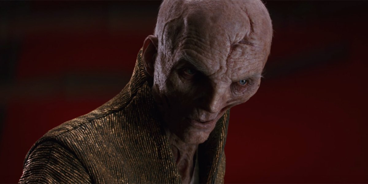 Snoke sneering at his disappointing apprentice