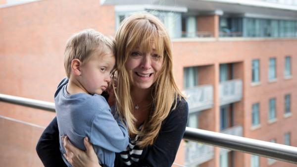 Coronation Street's Jenny Bradley with Jack on the balcony
