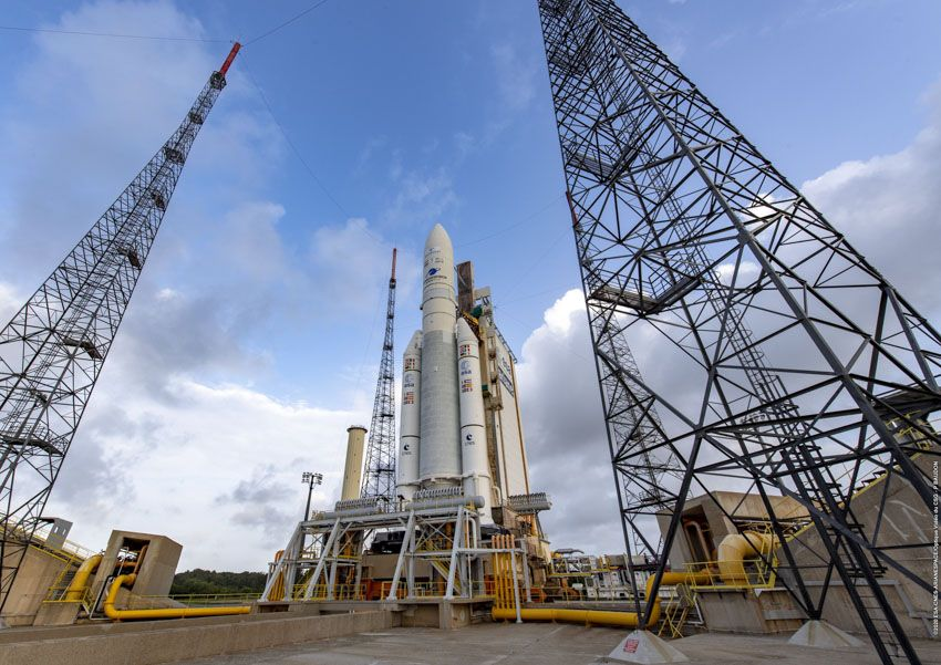 Arianespace will launch 2 satellites on a Ariane 5 rocket tonight. Here's how to watch it live.