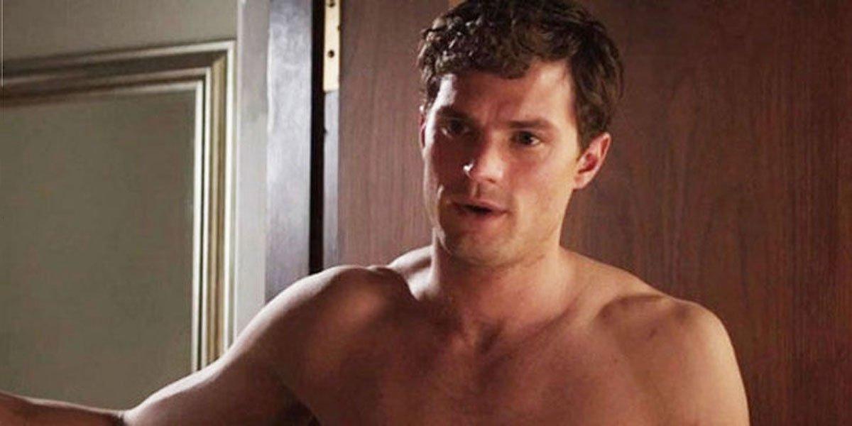 Jamie Dornan shirtless in Fifty Shades of Grey