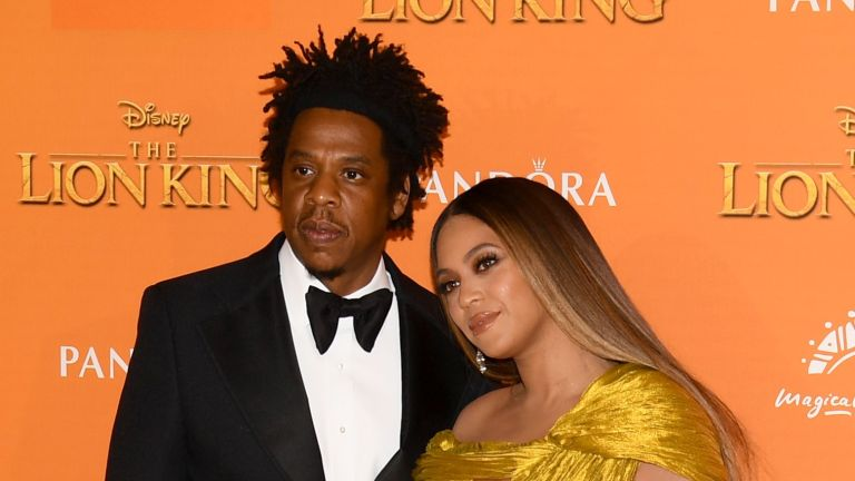 Beyonce and Jay Z at the Lion King premiere