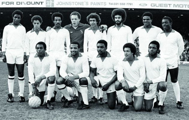 As part of the BBC's Black and British season, this documentary presented by Adrian Chiles centres around a football match played in 1979