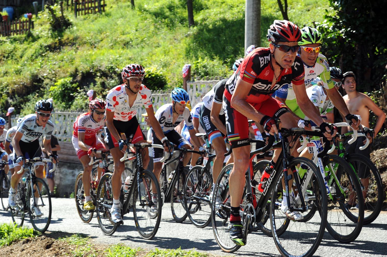 Cadel Evans attacks, Tour de France 2011, stage 17