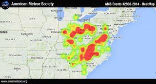 Fireball heat map