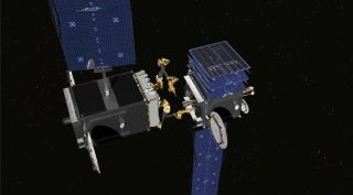 SSL robotic arms on satellite repair conception