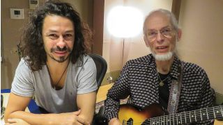 A portrait of Steve Howe and his son
