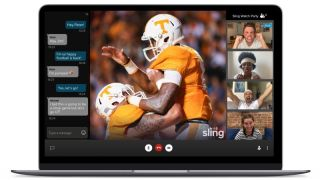 "Sling TV's new ""Watch Party"" feature."