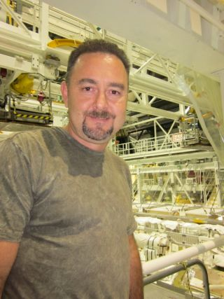 Space shuttle worker Tim Keyser