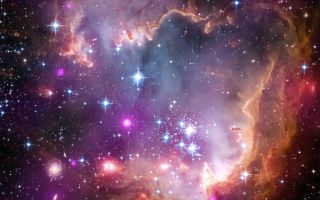 Wing of Small Magellanic Cloud space wallpaper