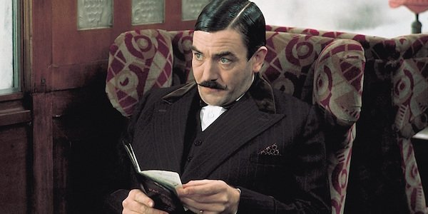 Albert Finney as Hercule Poirot in Murder on the Orient Express
