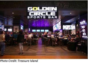 Treasure Island's Golden Circle Sports Bar Goes Big With NanoLumens LED Display