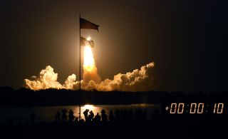 Shuttle Launch Lights the Night for Last Time