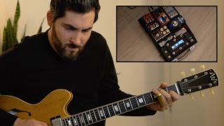 Ariel Posen shows off his new pedalboard and guitars