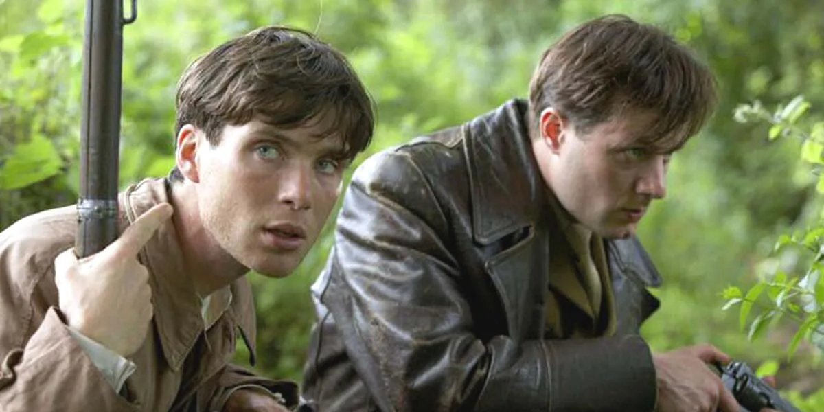 Cillian Murphy and Pádraic Delaney in The Wind That Shakes the Barley
