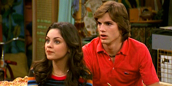 How Awkward Mila Kunis And Ashton Kutchers First Kiss Was
