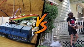 Raspberry Pi Alarm that Sprays Porch Pirates