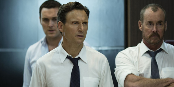 The Belko Experiment Tony Goldwyn John C McGinley look angry