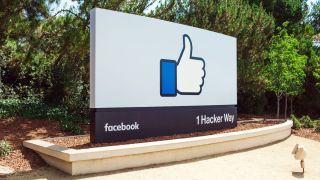 Facebook sign at HQ