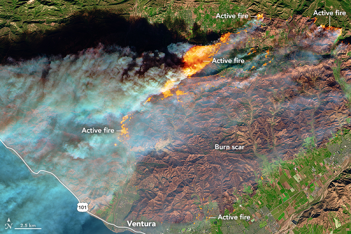 Raging Southern California Wildfires Seen From Space Photos Space