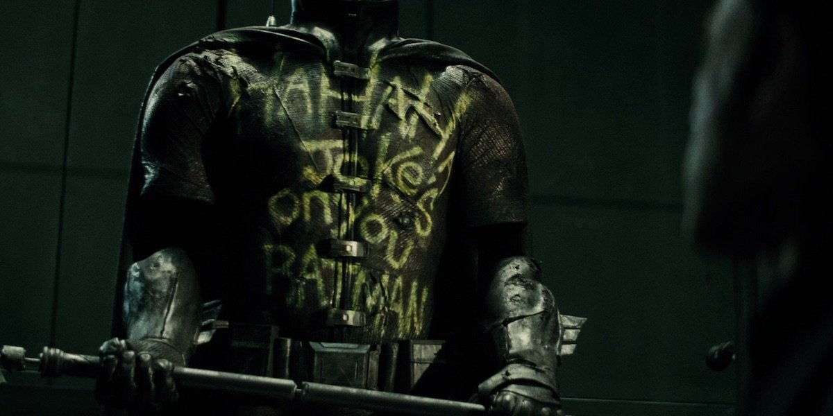 Robin suit memorial in Batman v Superman: Dawn of Justice
