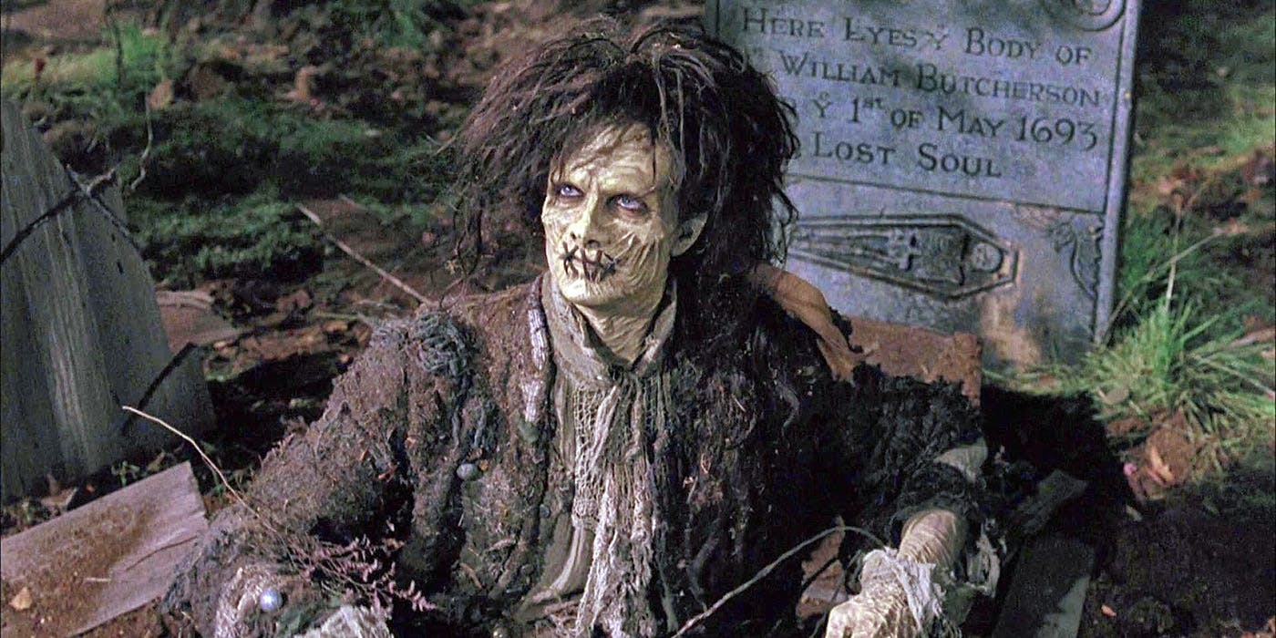 Billy Butcherson sits up in his grave in Hocus Pocus.