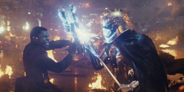 Finn dueling Phasma in The Last Jedi