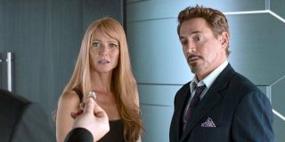 Gwyneth Paltrow and Tony Stark in Spider-Man: Homecoming