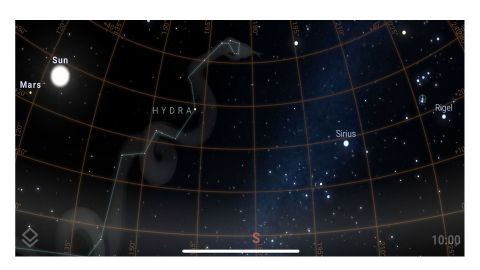 Star Rover review: Image shows the night sky in the app.