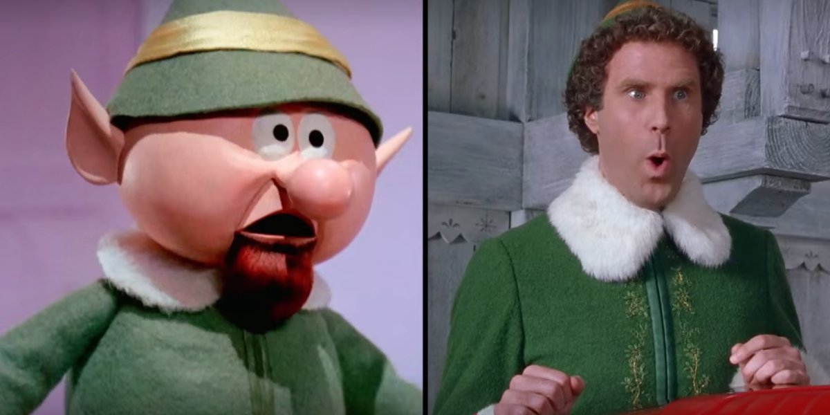 Elf Forman and Will Ferrell in The Christmas Movies That Made Us