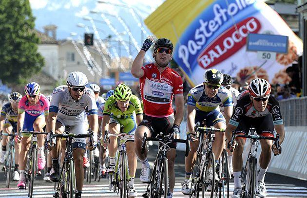 Mark Cavendish wins stage 13, Giro d'Italia 2013