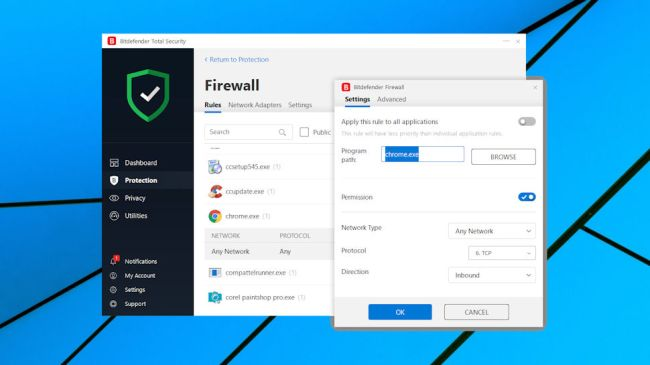Bitdefender Total Security Multi-Device 2019 is the bigger brother of Antivirus Plus and adds a lot more features