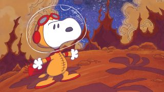 """Snoopy boldly goes to the Red Planet in the new graphic novel """"Snoopy: A Beagle of Mars"""" from Boom! Studios."""