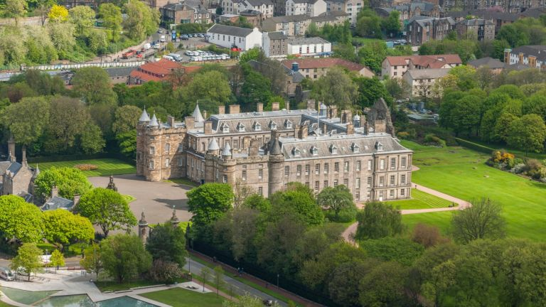 Inside the Palace of Holyroodhouse—the Queen's official Scottish home. Atlantide Phototravel